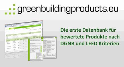 greenbuildingproducts.eu - 1. Datenbank für bewertete Produkte nach DGNB und LEED Kriterien